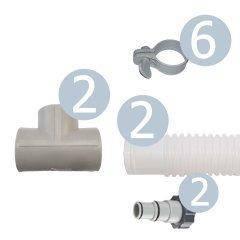 Набор для подключения IntexPool 22980, для схемы распределения давления (коврик нагреватель) под шланг 38 мм