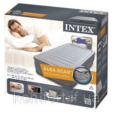 Надувная двуспальная кровать Intex 67766 Comfort (99-191-33см), встроенный электронасос, фото 3