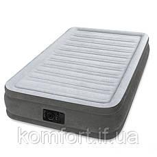 Надувная двуспальная кровать Intex 67766 Comfort (99-191-33см), встроенный электронасос, фото 2
