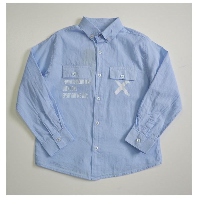 Рубашка голубого цвета Yonth African Tem Jacklons для мальчика, Jacklions