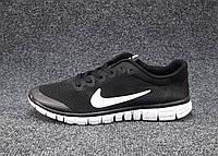 Кроссовки мужские  Nike Free Run 3.0 сетка черные (найк фри ран)(р.44,45)