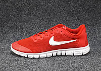 Кроссовки мужские  Nike Free Run 3.0 сетка красные (найк фри ран)(р.44)