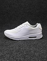 Кроссовки мужские  Nike Air Max 90 белые сетка (найк аир макс)(р.43,45,46)