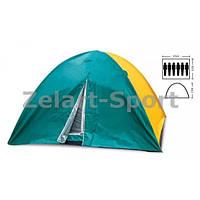 Палатка кемпинговая 6-и местная с тентом