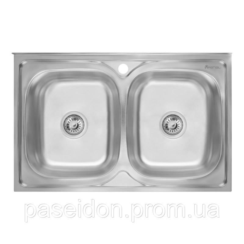 Кухонная мойка двойная Imperial 5080 Satin (IMP5080SATD)