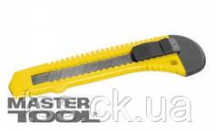 MasterTool  Нож 18 мм пластиковый кнопочный фиксатор, Арт.: 17-0518