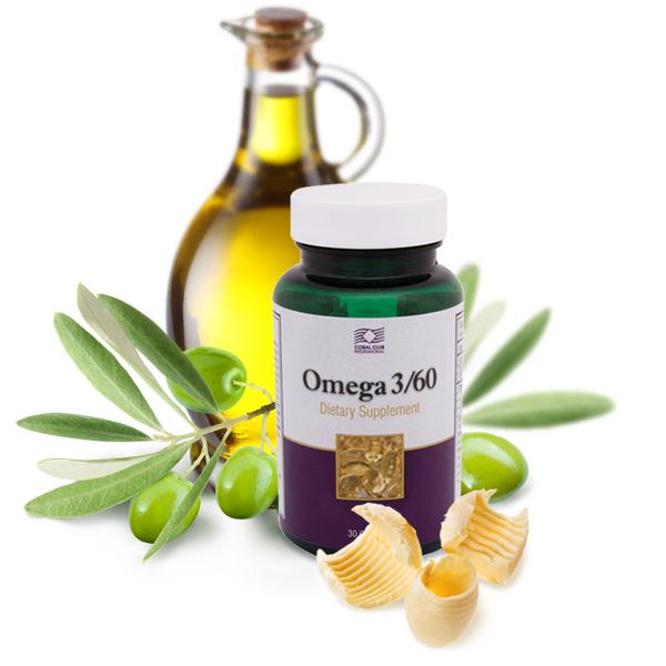 Омега 3/60 Omega  Жирные кислоты Сосудистые заболевания