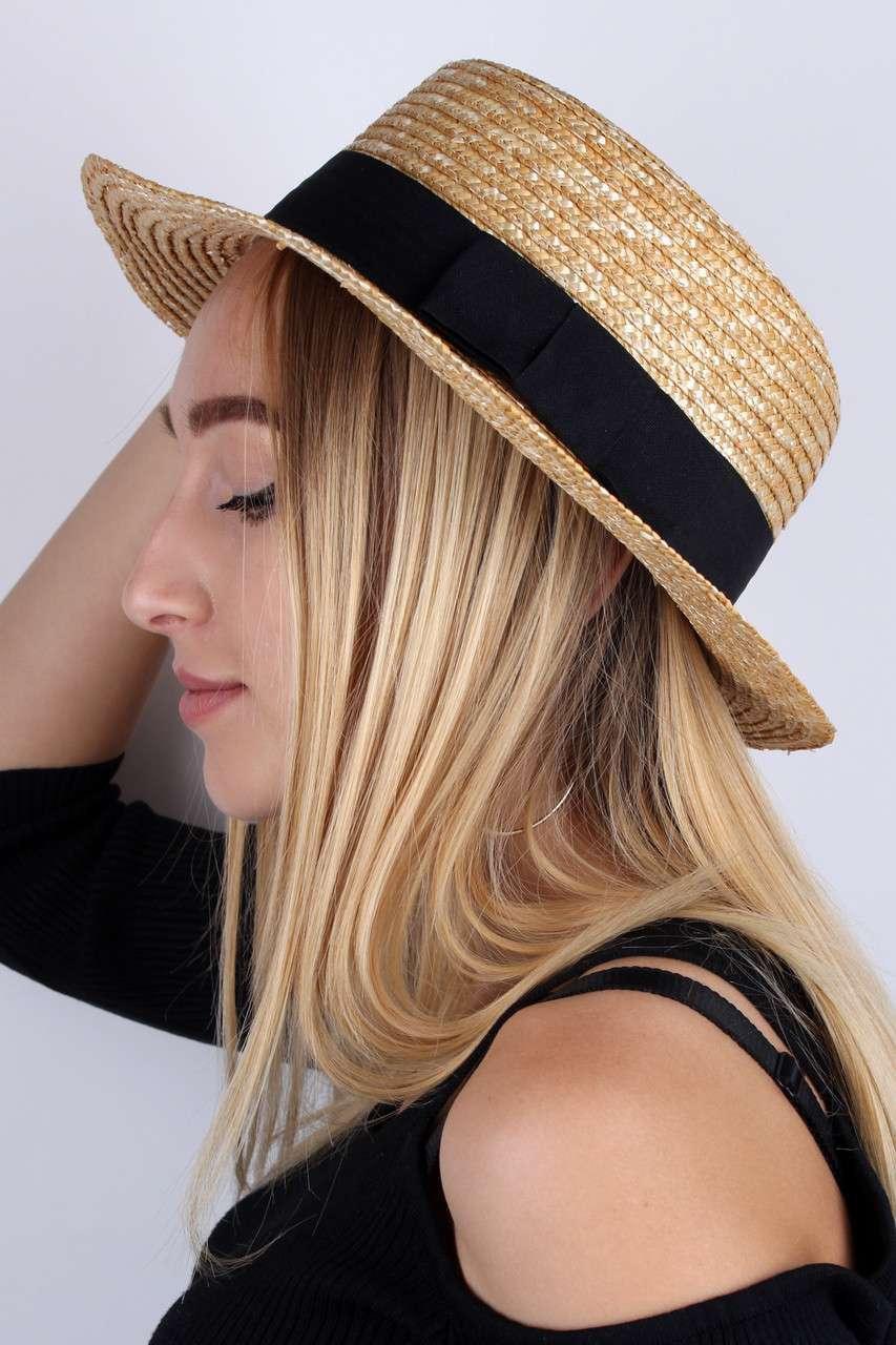 Соломенная шляпа канотье