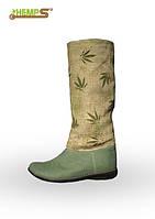 Обувь из конопли. Сапоги женские  «Мариванна Олли»