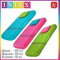 Матрац интекс детский велюровый с подушкой надувной Intex 66801 157х88х18см