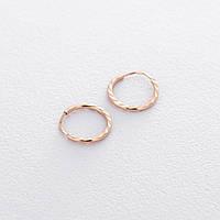 Золотые серьги-кольца