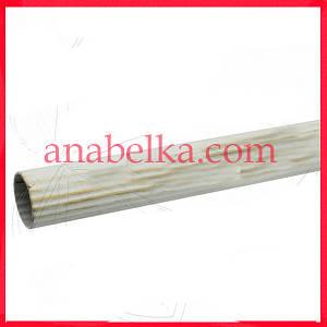 Труба рифленая Белое-Золото ( ОЛИВКА )