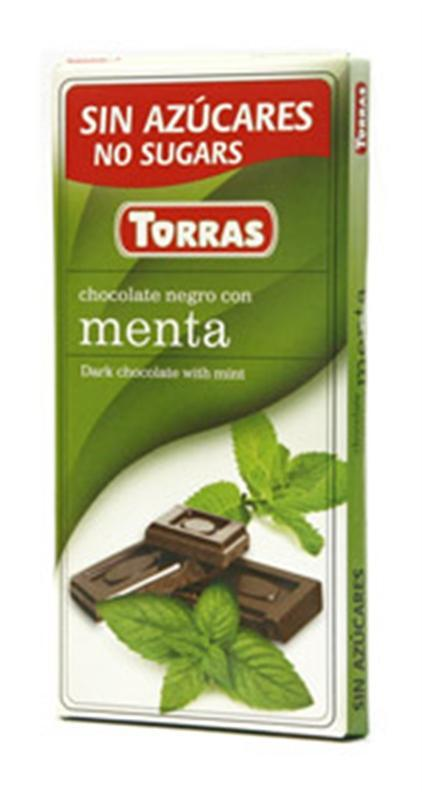 Шоколад черный Torras Menta, с мятой, 75 г (Испания)