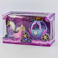 Карета с куклой 205 А (12) звуковые и световые эффекты, в коробке