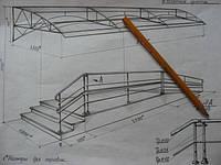 Изготовление металлоконструкции под навес
