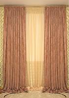 Комплект жаккардовых штор на тесьме, фото 1