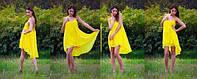 Легкое летнее женское шифоновое платье свободного кроя. Арт-2600/23, фото 1