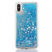 "TPU чехол Liquid hearts для Apple iPhone XS Max (6.5"")"