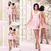 Летнее коттоновое женское платье с расклешонной юбкой. Арт-2602/23