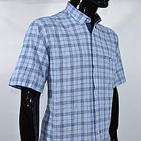 c8366be0c622195 Сорочка чоловіча з коротким рукавом Birindelli 02-521 100% льон L(Р)