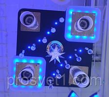 Люстра с подсветкой и пультом 81101/4+1 BK+CR/RBP, Ф500***