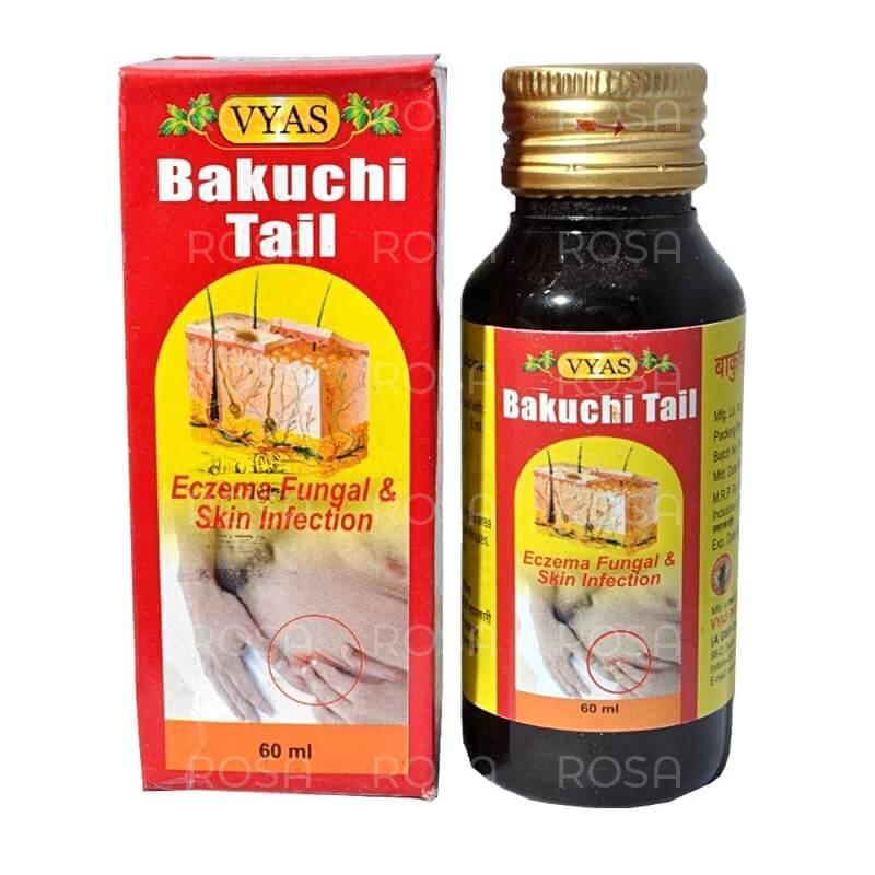 Бакучи масло (Bakuchi Oil, Vyas Pharmaceuticals), 60 мл псориаз, лейкодермия, витилиго, кожный дерматит