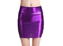 Стильная голографическая облегающая мини юбка, М, L, ХL, ХХL, фото 2