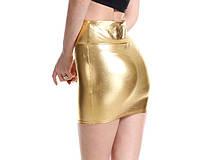 Стильная голографическая облегающая мини юбка, М, L, ХL, ХХL, фото 3