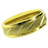 Кольцо Обручальное 6 мм под Золото с Алмазной Гранью, из Нержавеющей Стали р.,17,18,19,20,21