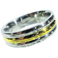 Кольцо Обручальное 6 мм под Золото Длинная жизнь, из Нержавеющей Стали р.,17,18,19,20,21
