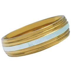 Кольцо Обручальное 6 мм под Золото Счастливая Дорожка, из Нержавеющей Стали р.,17,18,19,20,21
