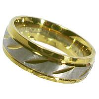 Кольцо Обручальное 6 мм под Золото Комбинированное, из Нержавеющей Стали р.,17,19,20,21