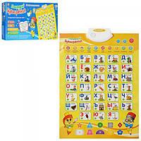 Плакат детский с алфавитом, цифрами, цветами и скороговорками Limo Toy (7002 RU)