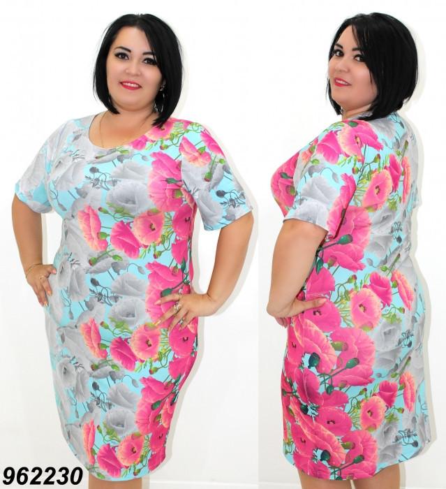 Летнее платье большого размера 50,52,54,56