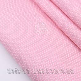 "Сатин ткань ""Свитерок"" розового цвета, № 2308с"