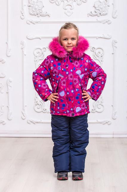 Зимние детские комбинезоны для девочки