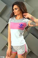 Женский спортивный костюм с шортами в 4 цветах