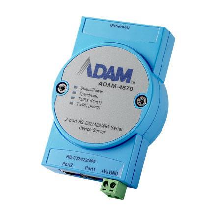 Шлюз передачи данных от двух портов RS-232/422/485 в сеть Ethernet