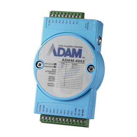 ADAM-6052-D 16-канальный модуль дискретного ввода/вывода, 1 x Ethernet, Modbus TCP