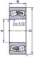Подшипник  роликовый радиальный сферический двухрядны 113612й