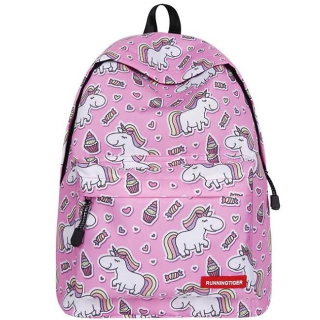 Школьный рюкзак с единорогом Unicorn purple