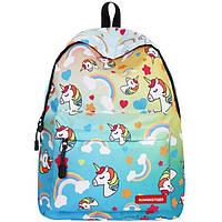 Школьный рюкзак с единорогом Unicorn green