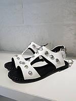 Сандалі  жіночі BETSY білі,  шкіряні, фото 1