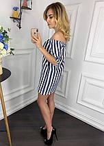 """Прямое джинсовое мини-платье в полоску """"Marmaris"""" с коротким рукавом (2 цвета), фото 2"""