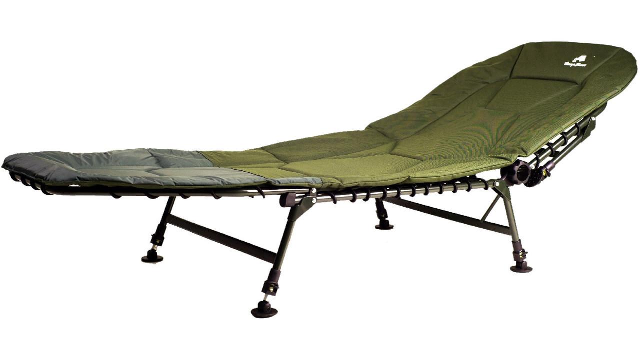 Раскладушка стальная карповая Ranger Campfeuer (2080х800x450мм), зеленая