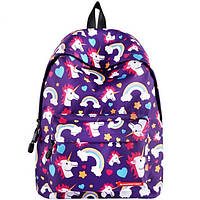 Школьный рюкзак с единорогом Unicorn violet