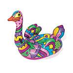 Плавательный круг Bestway 41117 Поп-арт страус