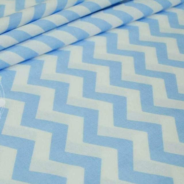 ткань ранфорс зигзаг голубой, ранфорс, ранфорс для постельного белья