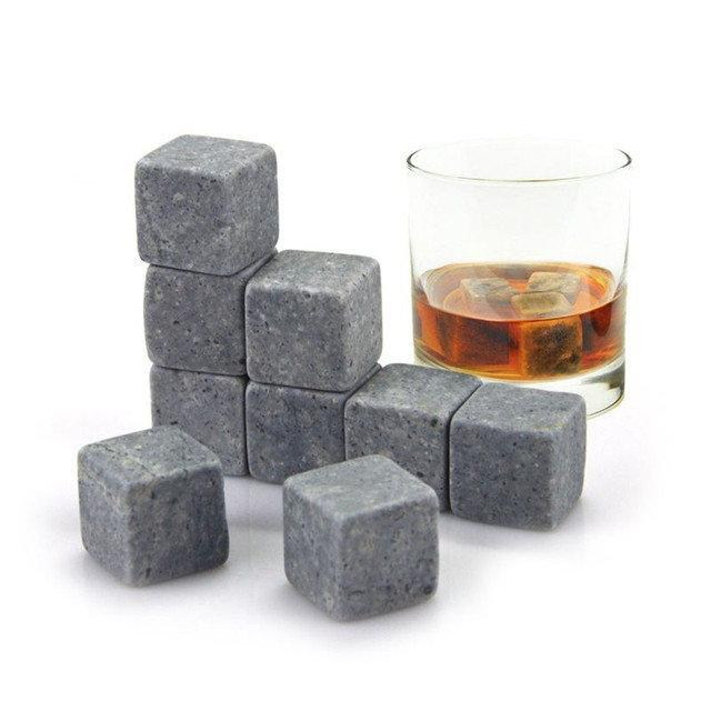 Камни для для охлаждения виски и напитков WHISKY STONES, кубики для виски, многоразовый лед
