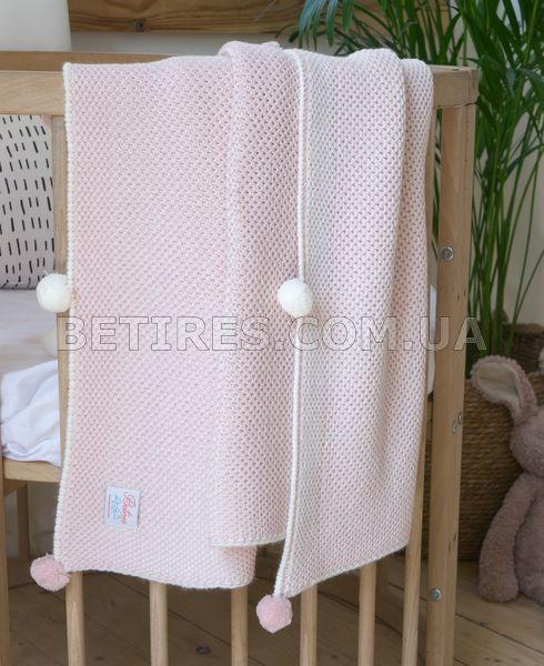Плед детский вязаный 90x90 BETIRES KIDDY PINK розовый
